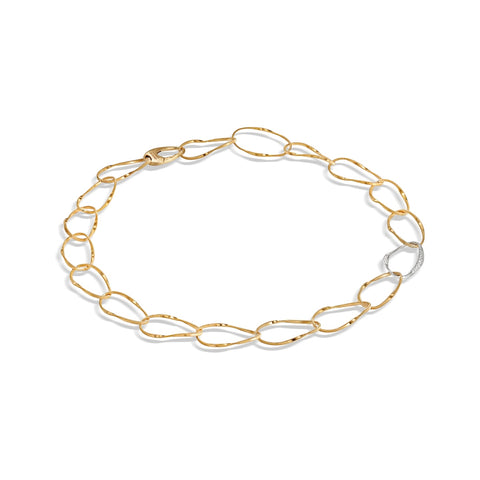 Marco Bicego® Marrakech Onde Collection 18K Yellow Gold and Single Diamond Link Collar