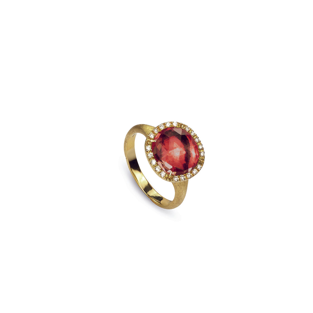 Jaipur Pink Tourmaline and Diamond Ring
