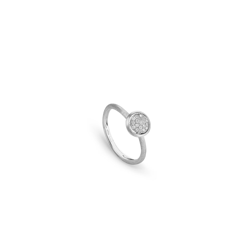 Marco Bicego® Jaipur Collection 18K White Gold and Diamond Stackable Ring