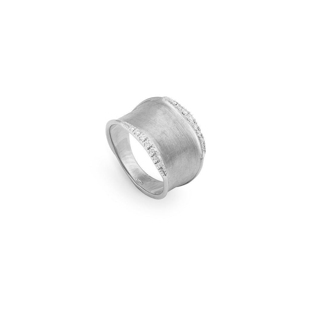 Marco Bicego® Lunaria Collection 18K White Gold and Diamond Small Ring