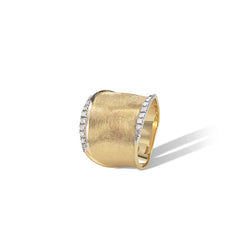Marco Bicego® Lunaria Collection 18K Yellow Gold and Diamond Medium Ring image 0