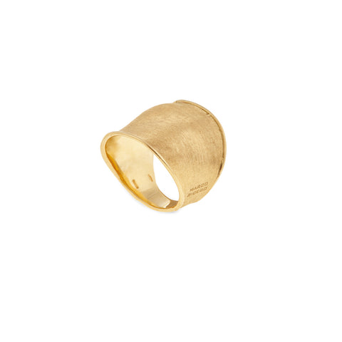 Lunaria 18K Yellow Gold Wide Ring
