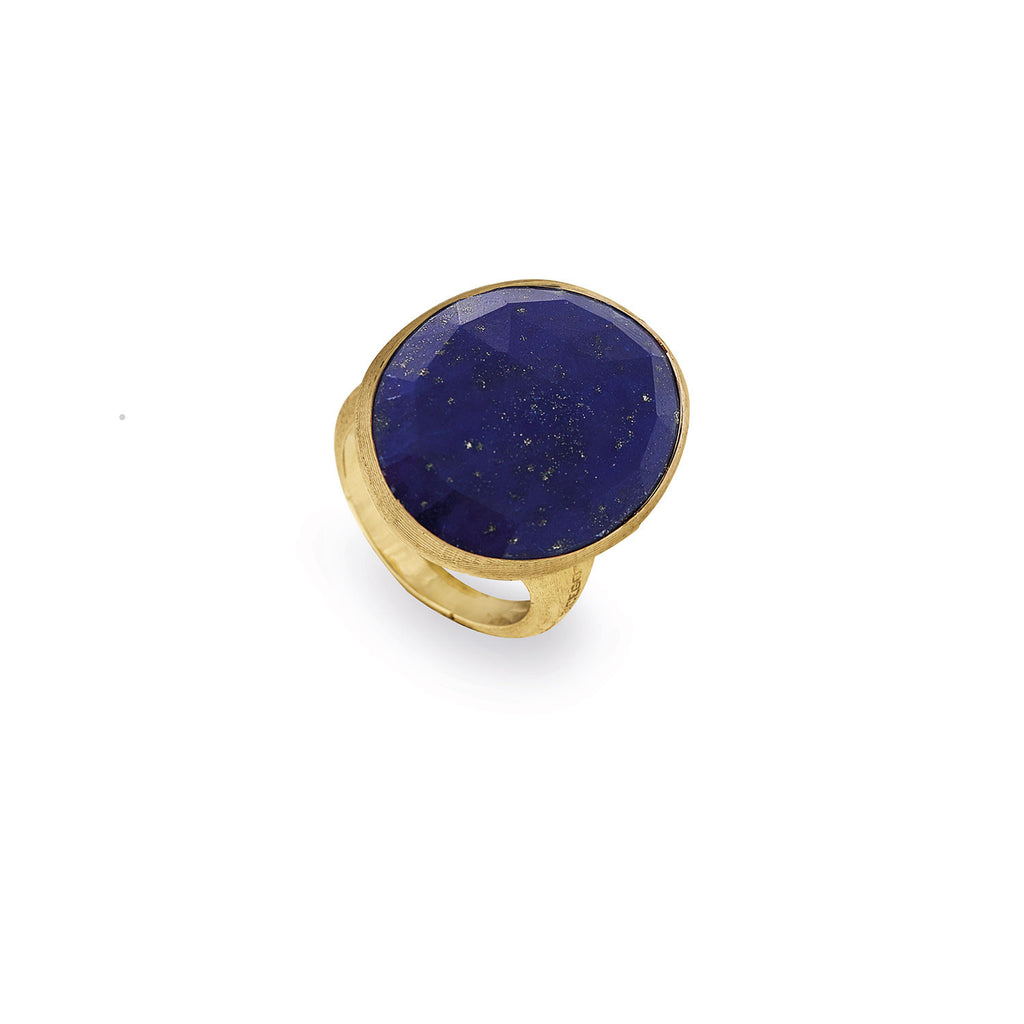 Lunaria Gold & Lapis Cocktail Ring