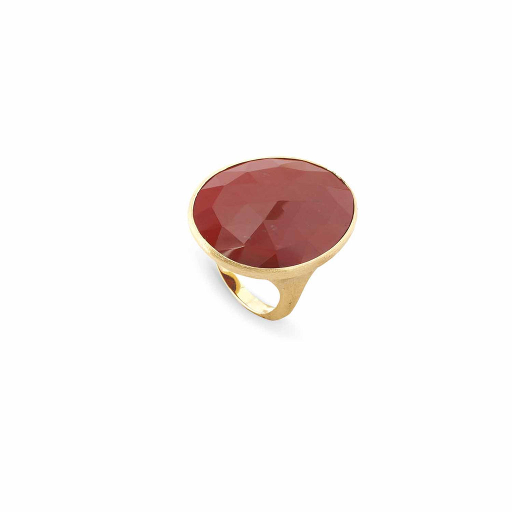 Lunaria Gold & Red Jasper Large Cocktail Ring