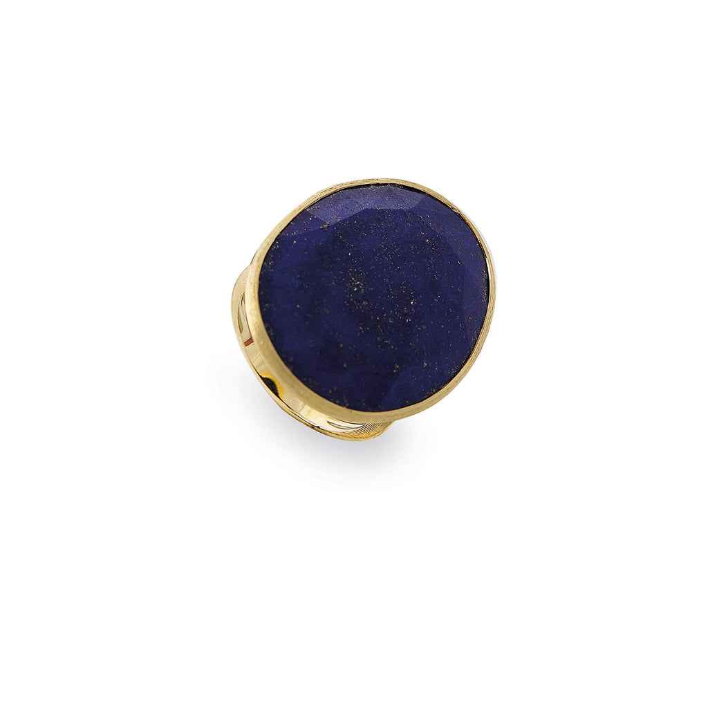 Lunaria Gold & Lapis Large Cocktail Ring