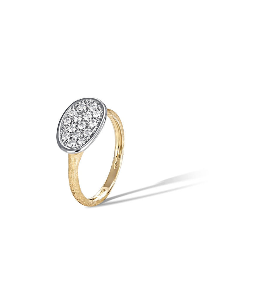 Marco Bicego® Lunaria Collection 18K Yellow Gold and Diamond Small East West Ring
