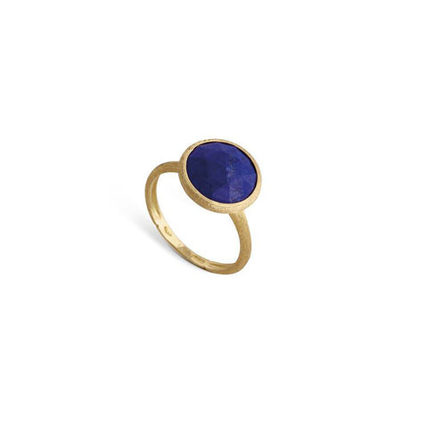 Jaipur 18K Yellow Gold Lapis Medium Stackable Ring