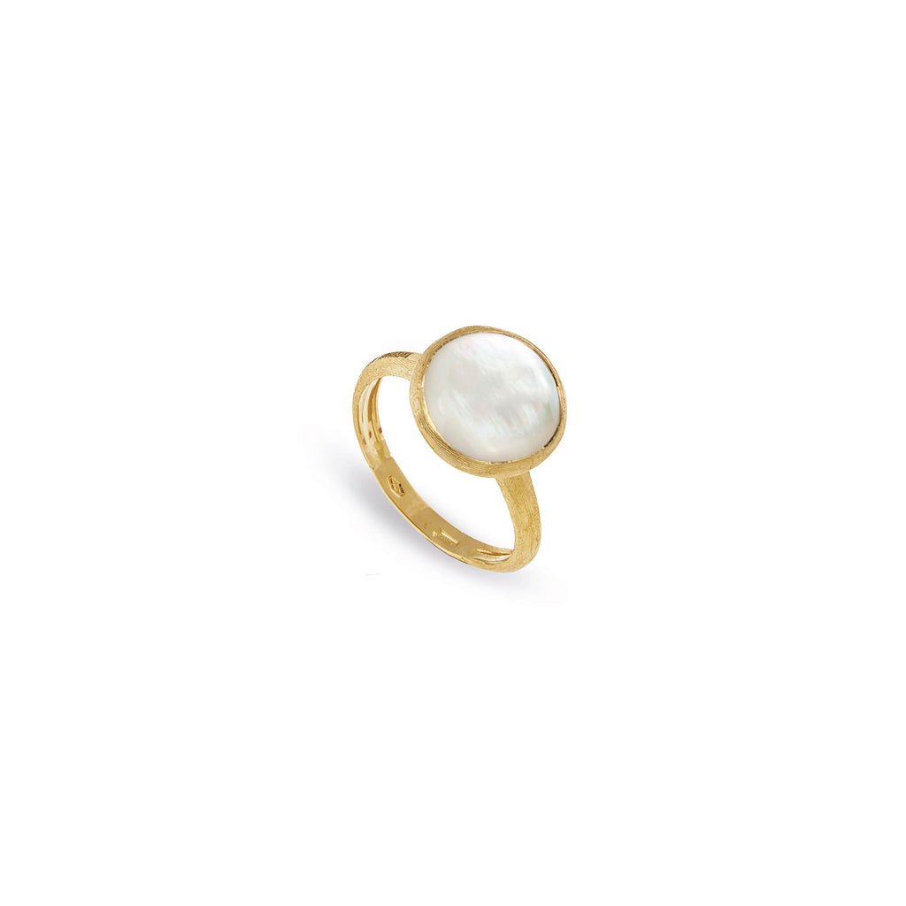 Jaipur White Mother of Pearl Medium Stackable Ring