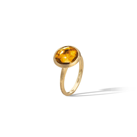 Marco Bicego® Jaipur Color Collection 18K Yellow Gold Citrine Medium Stackable Ring