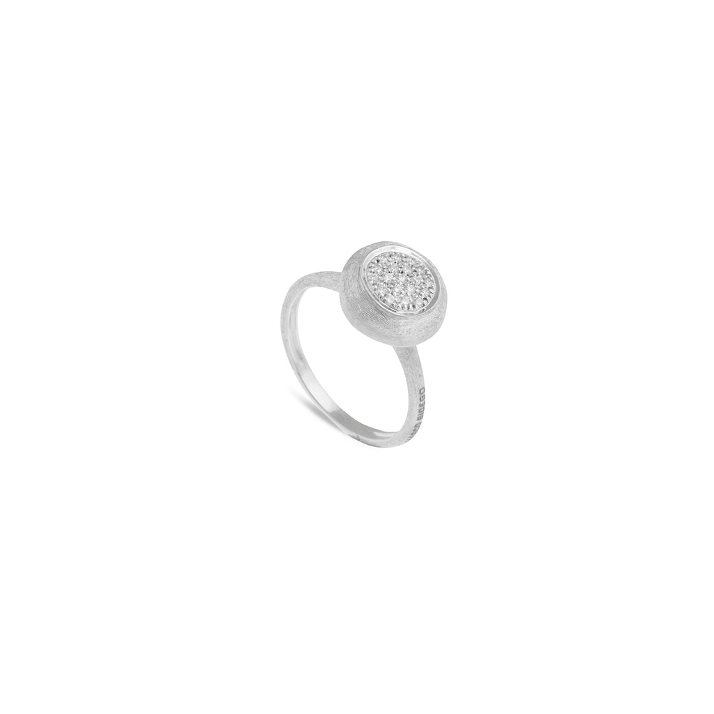 Marco Bicego® Jaipur Collection 18K White Gold and Diamond Medium Stackable Ring