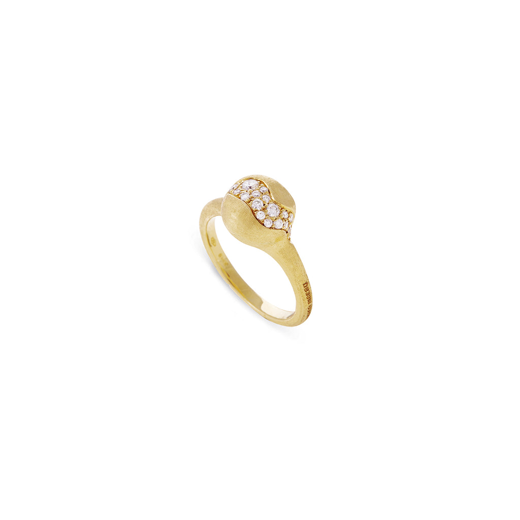 Africa Constellation 18K Yellow Gold and Diamond Small Ring