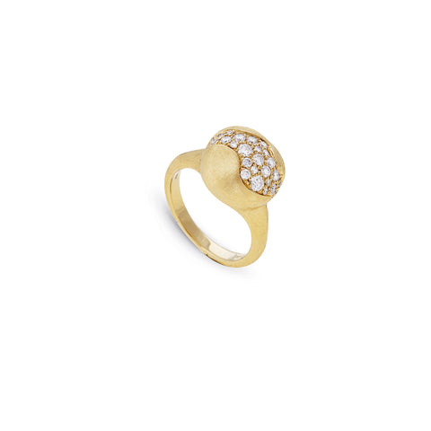 Marco Bicego® Africa Collection 18K Yellow Gold and Diamond Medium Ring