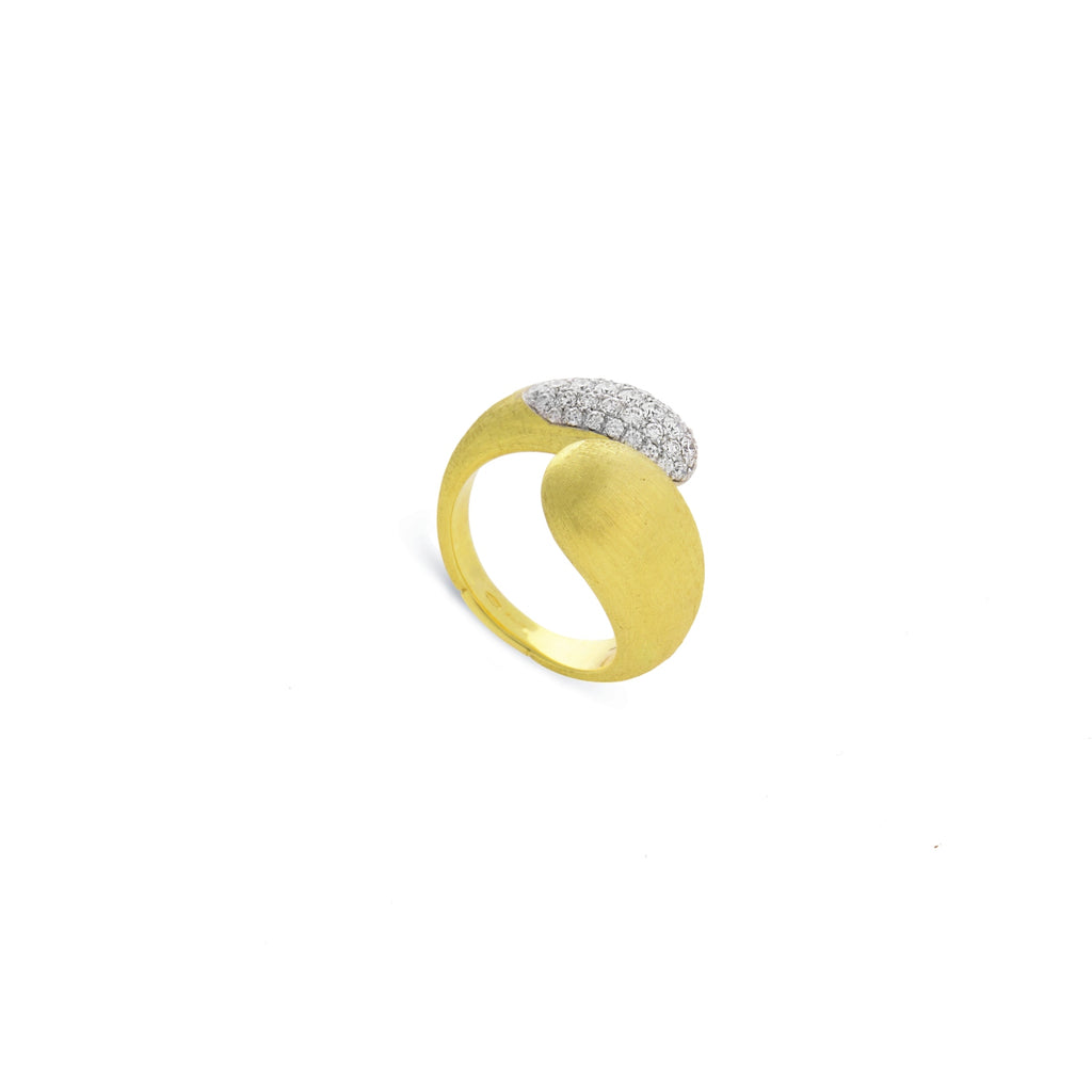Lucia 18K Yellow Gold and Diamond Hugging Ring