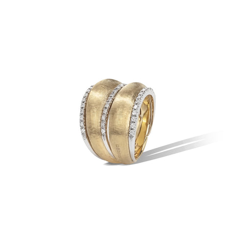 Marco Bicego® Lucia Collection 18K Yellow Gold and Diamond Double Dome Ring