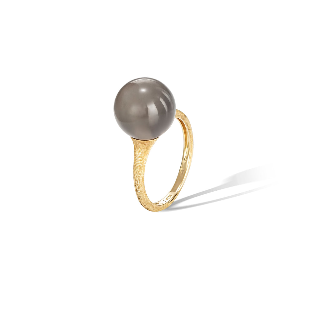 Marco Bicego® Africa Boule Collection 18K Yellow Gold and Grey Moonstone Ring