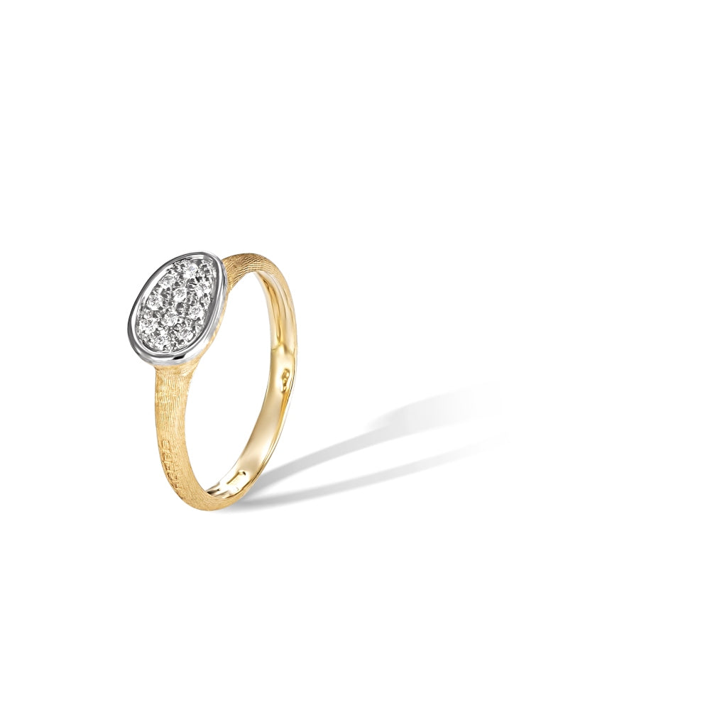 Marco Bicego® Lunaria Collection 18K Yellow Gold and Diamond Petite East West Ring