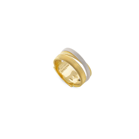 Marco Bicego® Masai Collection 18K Yellow and White Gold Three Strand Ring