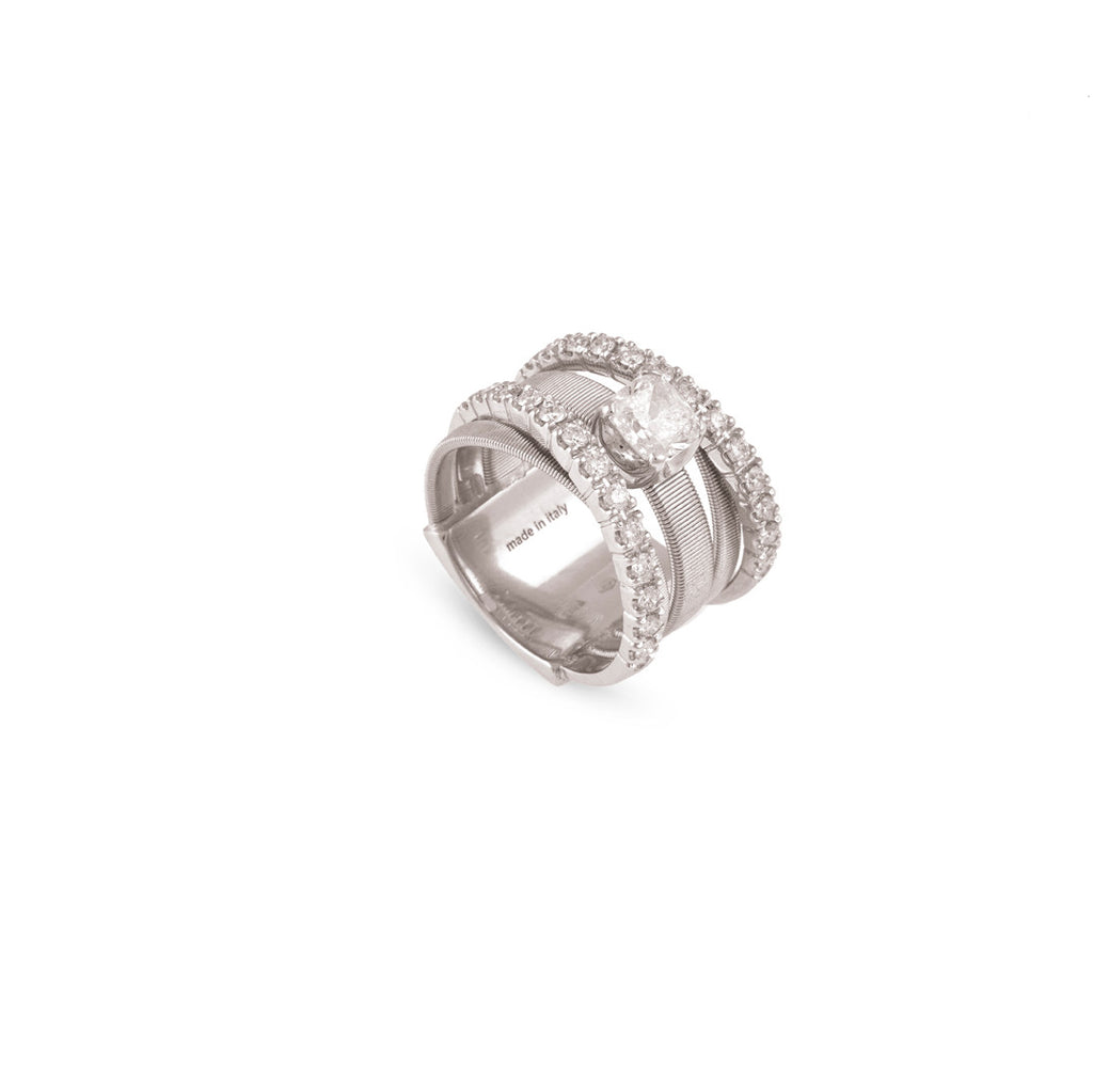 Unico Masai White Gold Five Strand Diamond Ring