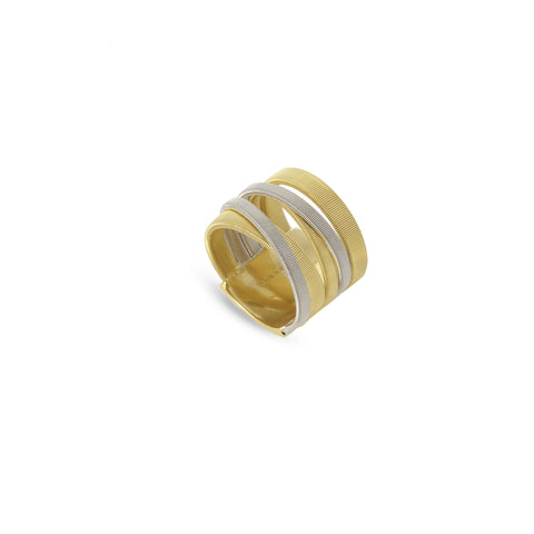 Masai Yellow and White Gold Five Strand Ring