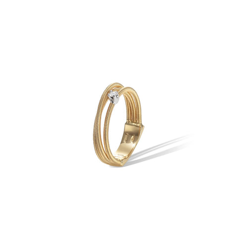Marco Bicego® Bi49 Collection 18K Yellow Gold and Diamond Multi Strand Band