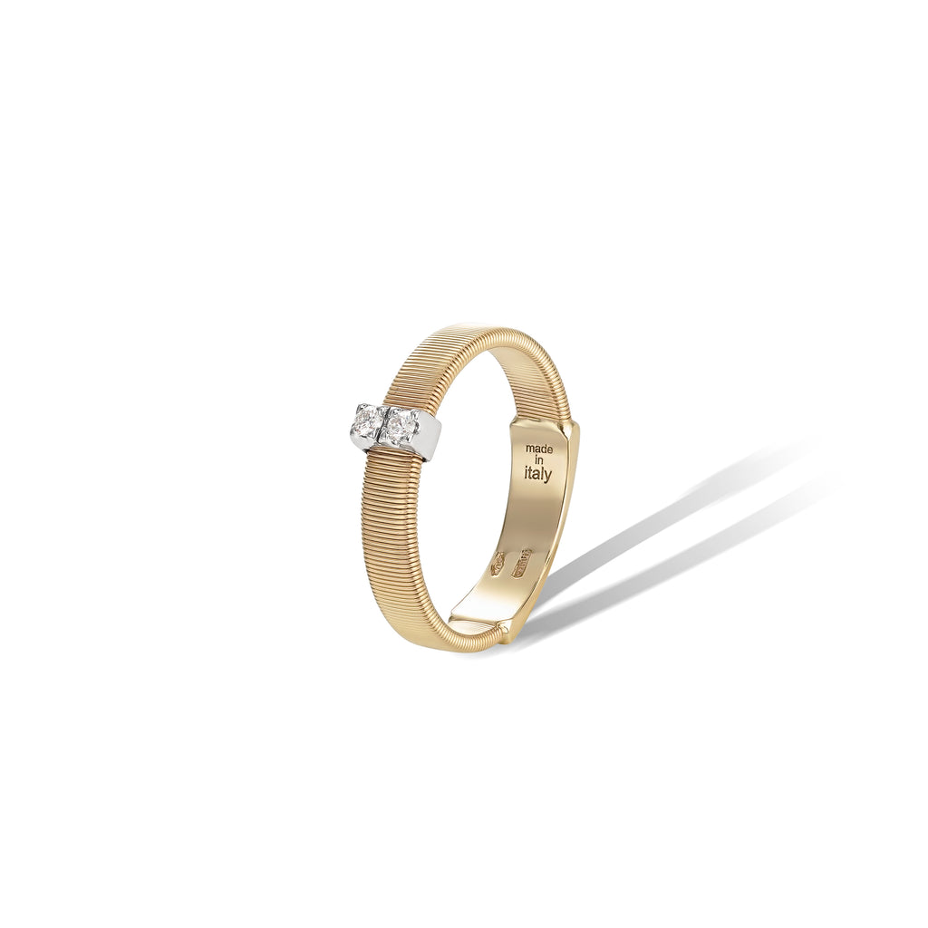 Marco Bicego® Masai Collection 18K Yellow Gold and Diamond Single Row Band