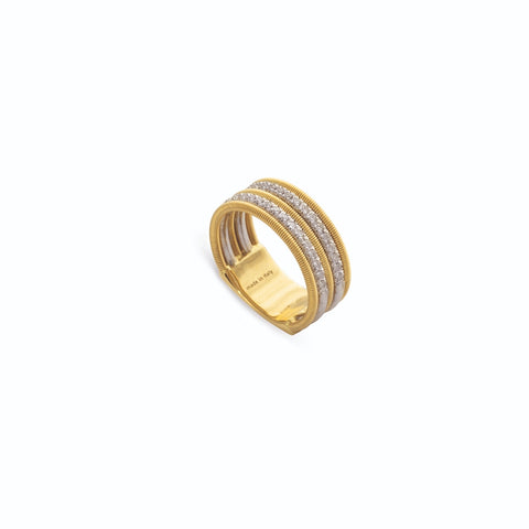 Marco Bicego® Bi49 Collection 18K Yellow Gold and Diamond Double Row Band