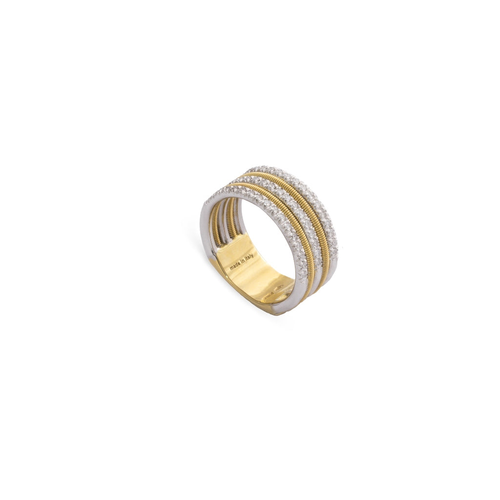 Marco Bicego® Bi49 Collection 18K Yellow Gold and Diamond Triple Row Band