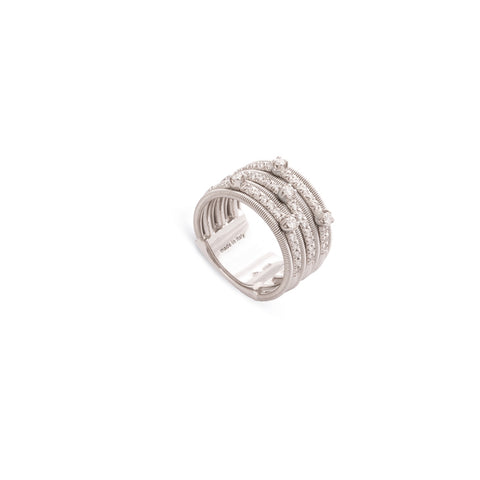 Marco Bicego® Bi49 Collection 18K White Gold and Diamond Seven Row Band