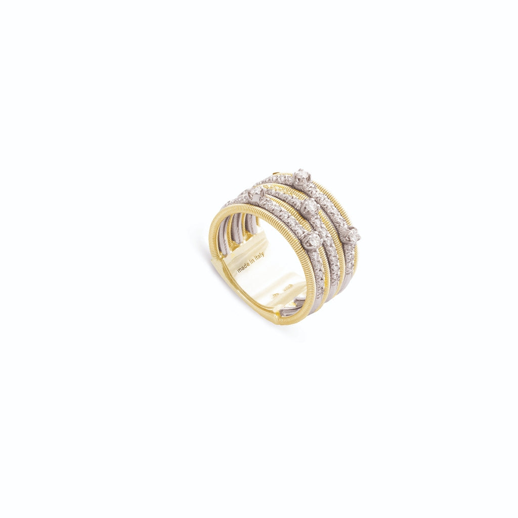 Marco Bicego® Bi49 Collection 18K Yellow Gold and Diamond Seven Row Band