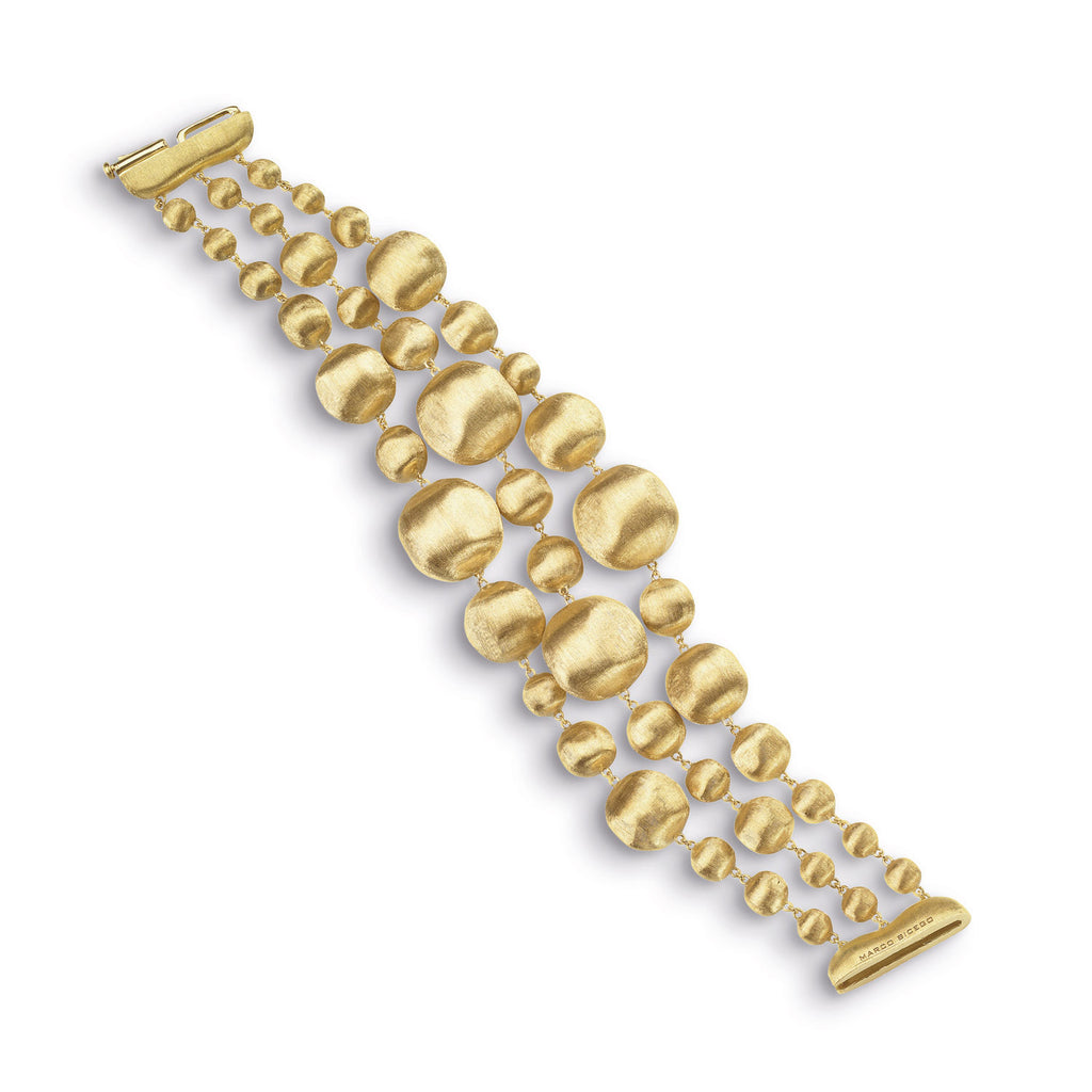 18K Gold Three Strand Bracelet