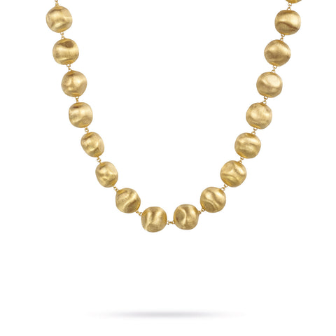 Africa Gold Medium Bead Necklace