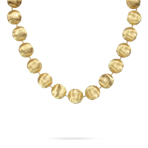 Africa Gold Large Bead Necklace