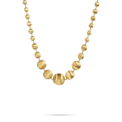 Africa Gold Graduated Medium Gauge Necklace