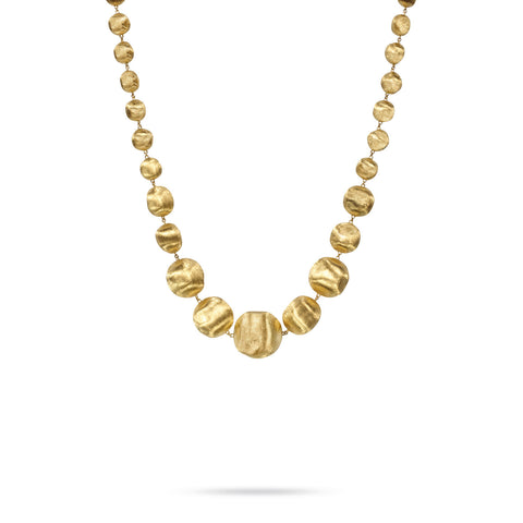 Africa Gold Graduated Large Gauge Necklace