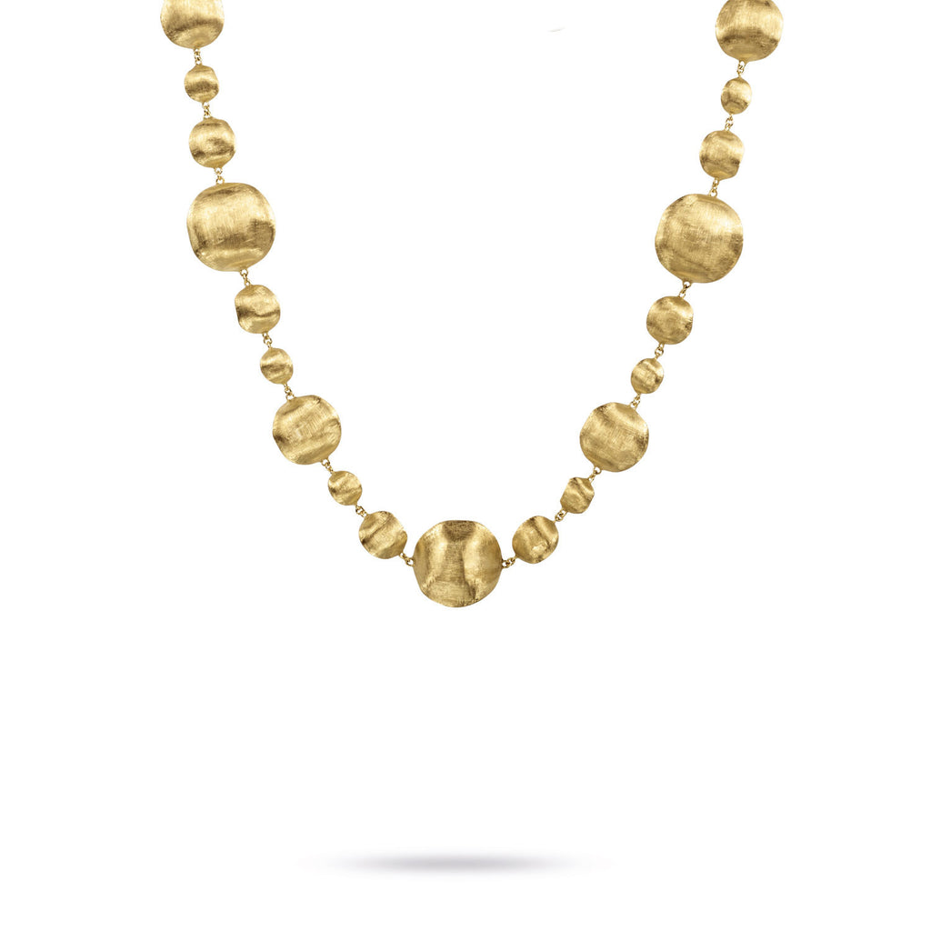 18K Gold Graduated Necklace