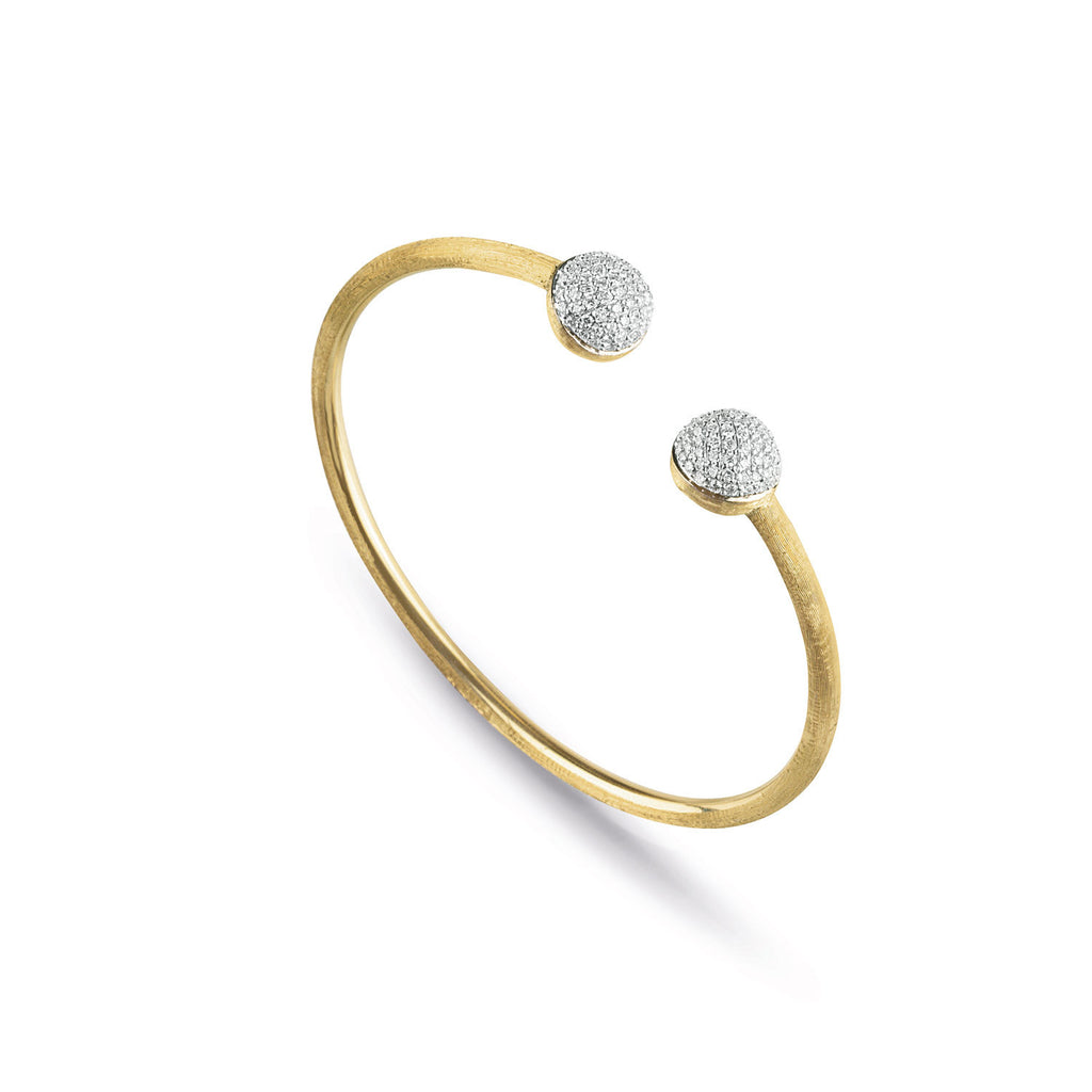 18K Gold & Diamond Kissing Bangle