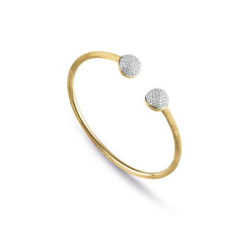 Africa Gold & Diamond Pave Kissing Bangle