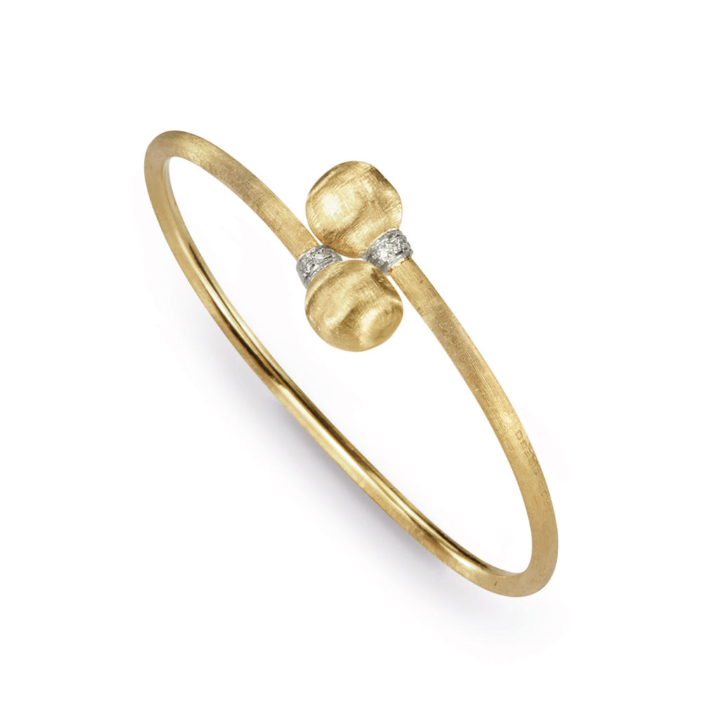 18K Gold & Diamond Hugging Bangle