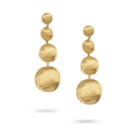 Africa Gold Long Drop Earrings