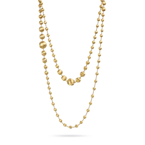 Africa Gold Graduated Triple Wave Necklace