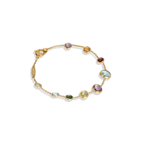 Marco Bicego® Jaipur Color Collection 18K Yellow Gold Mixed Gemstone Single Strand Bracelet