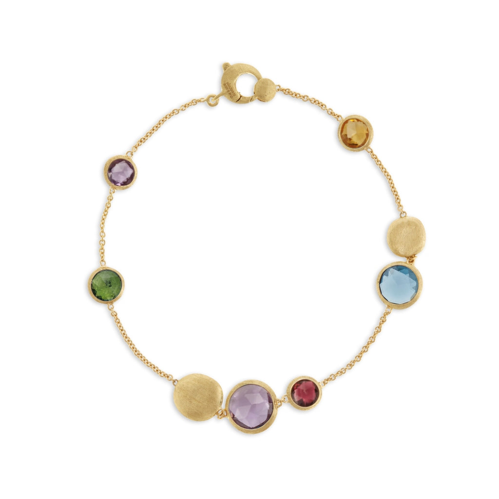 Jaipur Mixed Bead Gold & Mixed Gemstone Bracelet