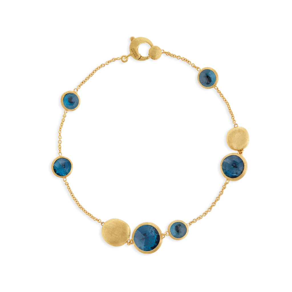 Marco Bicego® Jaipur Color Collection 18K Yellow Gold London Blue Topaz Bracelet