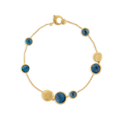 Marco Bicego® Jaipur Color Collection 18K Yellow Gold London Blue Topaz Bracelet image 1