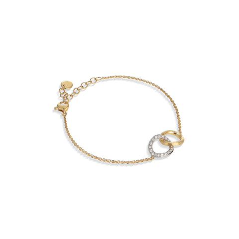 Marco Bicego® Jaipur Collection 18K Yellow and White Gold Diamond Round Link Bracelet