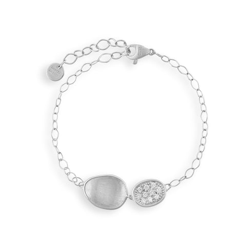 Lunaria White Gold & Diamond Pave Bracelet