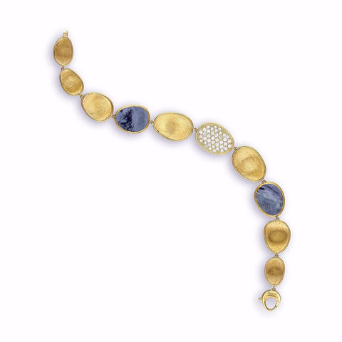 Lunaria Yellow Black Mother of Pearl & Diamond Bracelet