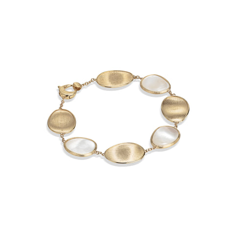 Marco Bicego® Lunaria Collection 18K Yellow Gold White Mother of Pearl Bracelet