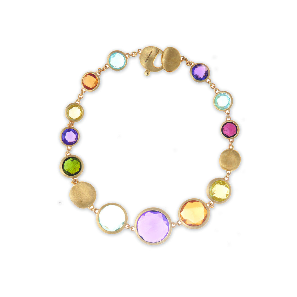 marco new paradisefivestrandbracelet yellow gold collection five products bicego strand graduated paradise bracelet stone mixed