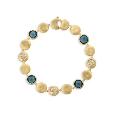 Jaipur London Blue Topaz with Diamond Bracelet